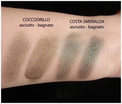 Neve Makeup: Ombretti minerali - Coccodrillo, Costa smeralda.