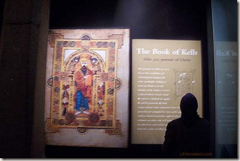 Book of Kells info plaque