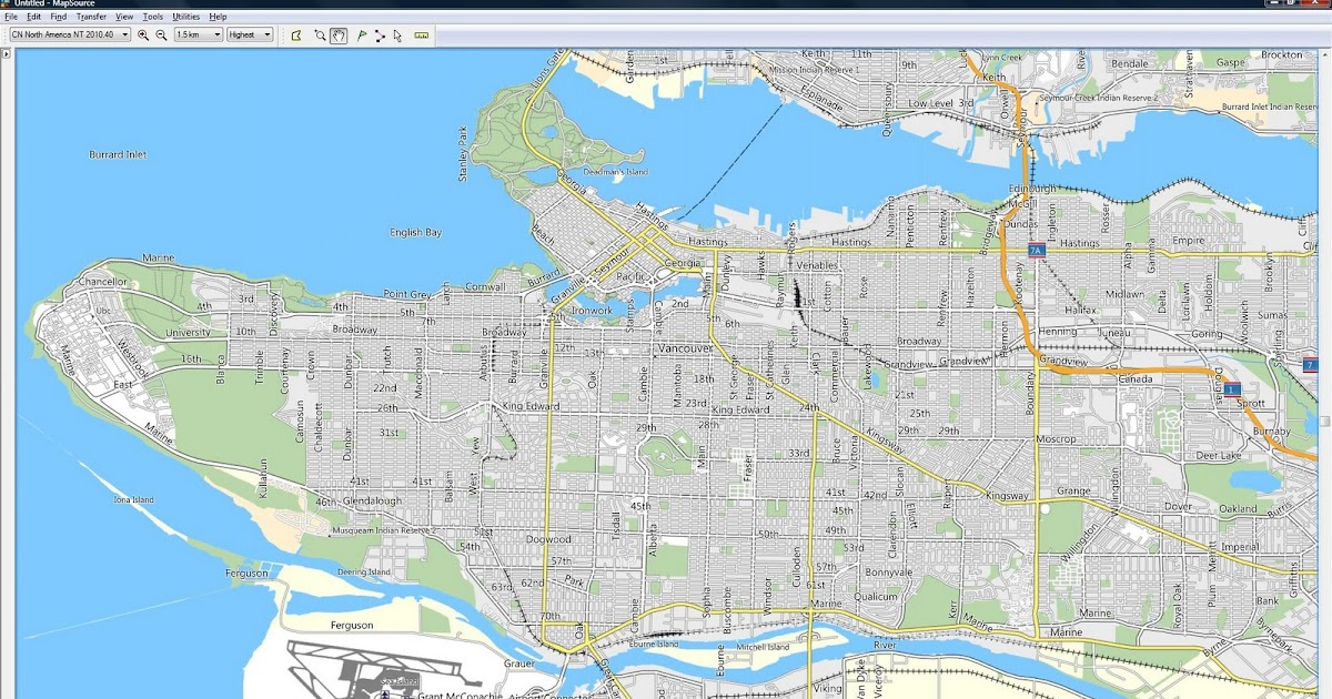 Mapsource north america maps