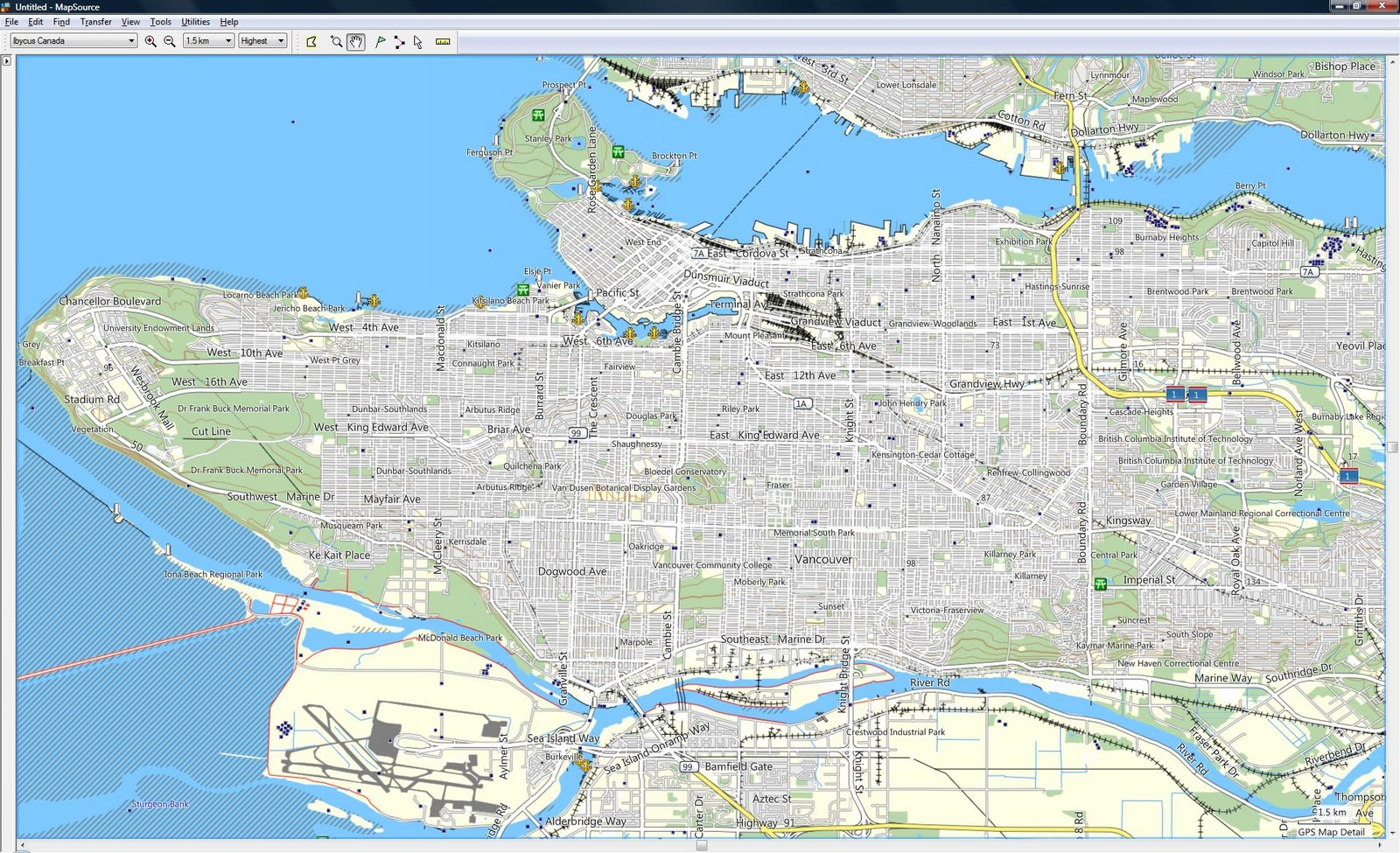Cycle Tour Across Canada Ibycus Topo Free Garmin Compatible - Topographic map free download