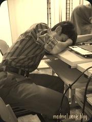 sleep tired..