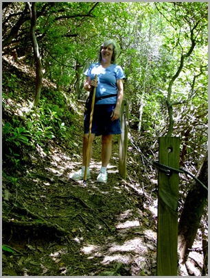 Judy on The Angel Falls Trail