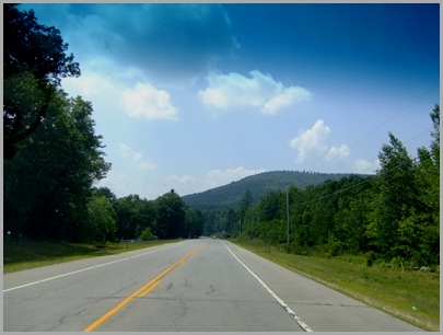 Traveling Along Route 202 in New Hampshire