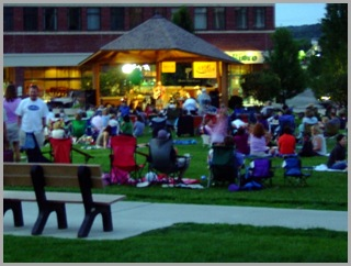 Soft rock band performing in the  Concert On The Green