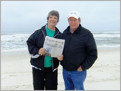 Tourists On The Beach - Jenny and Don