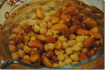 almonds and chickpeas