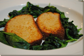 toast and spinach