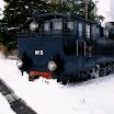 HKR5 talvisen Ruskajunan edessä Raemäessä. Kuva: Teemu Virtanen