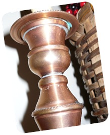 Antique copper candlestick