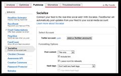 feedburner - publicize - socialize