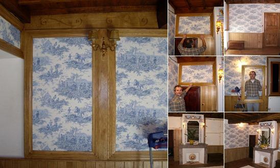 View Обивка стен в спальне