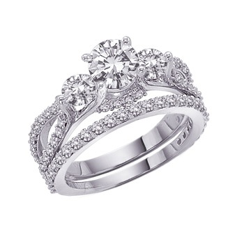 The ring is a beautiful combination of style and elegance Three stone rings