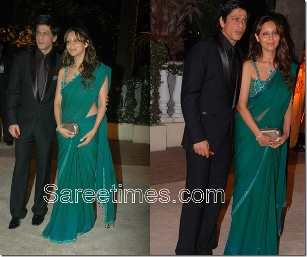 Gauri_Khan_Green_Saree