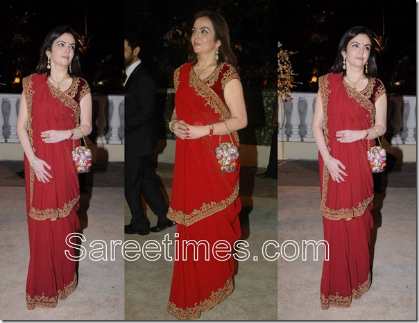 Nita_Ambani_Red_Saree