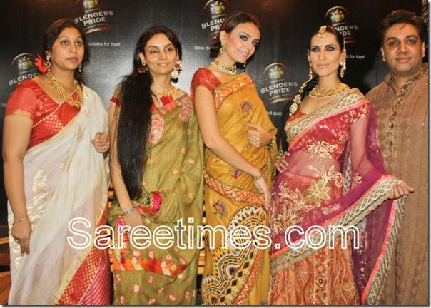 Meera rohit saree collection at bangalore fashion show