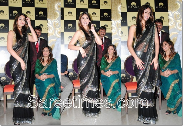 Ileana_Black_Saree