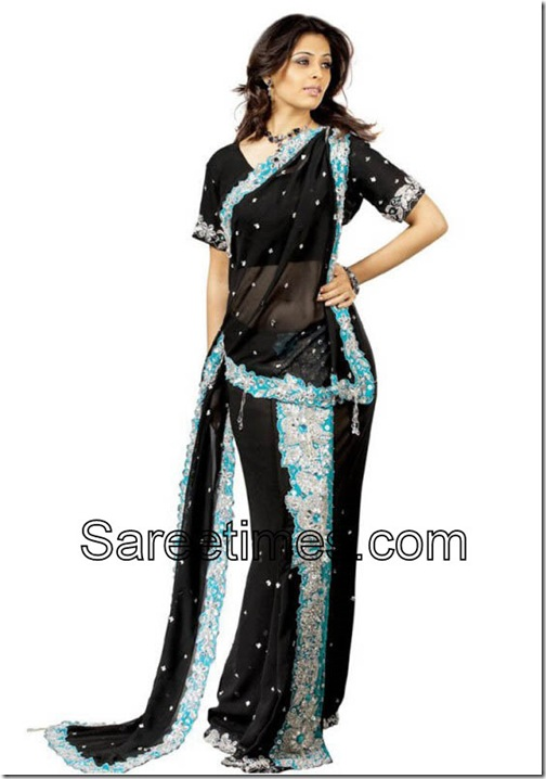 Anjana_Sukhani_Black_Saree