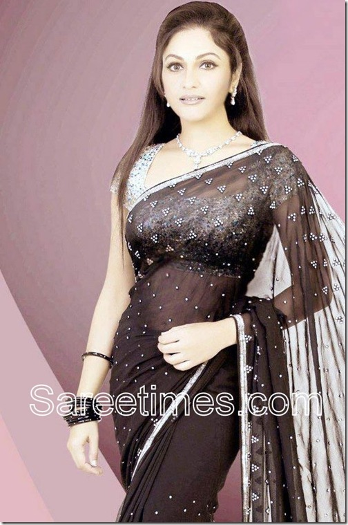 Gracy_SingH_Brown_Designer_Saree