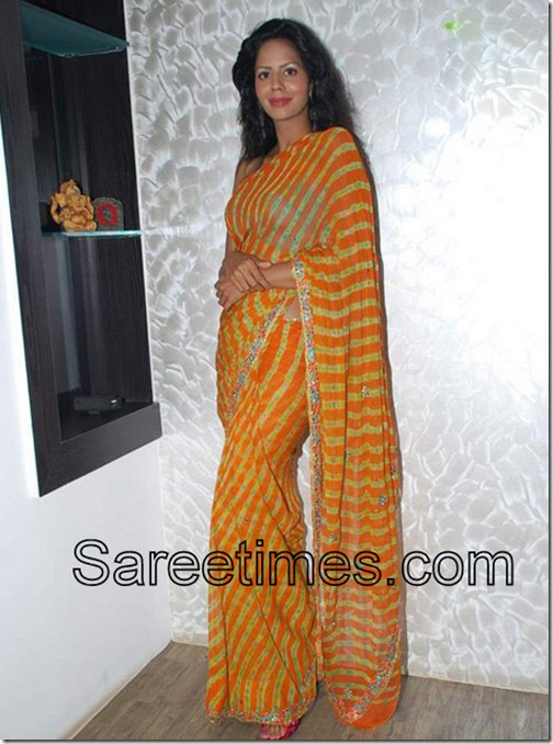 Bhairavi_Goswami_Orange_Saree