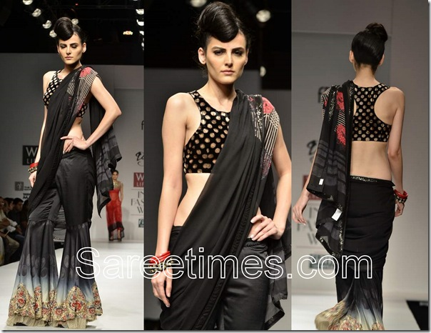 Dolly_J_ Black_Saree