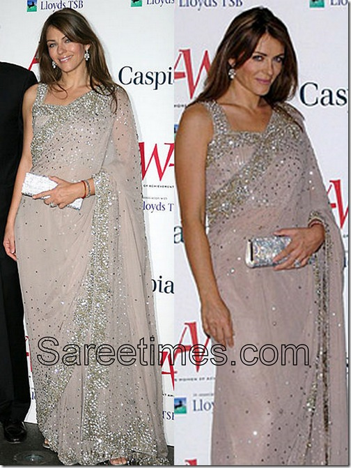 Liz_Hurley_Grey_Saree