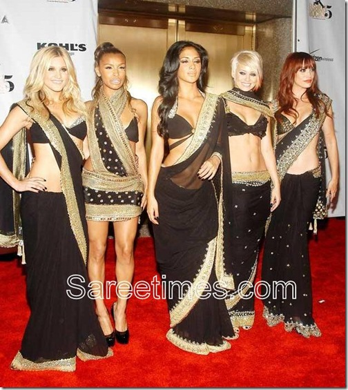 Nicole_Black_Saree