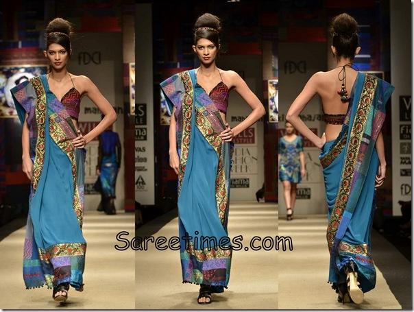 Niki_Mahajan_Blue_Designer_Saree
