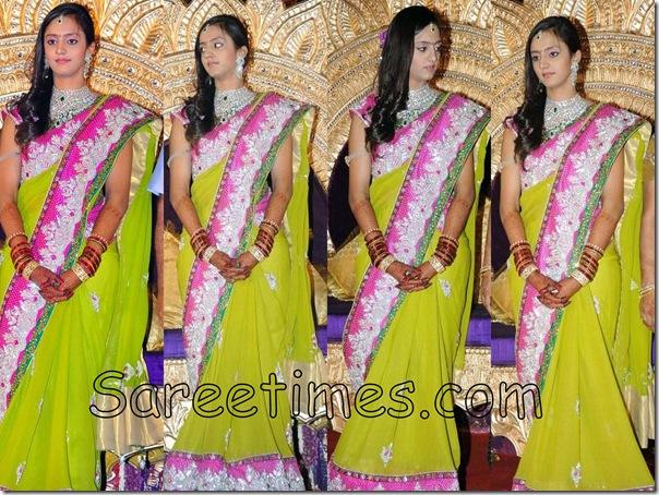 Lakshmi_Pranathi_Green_Designer_Saree