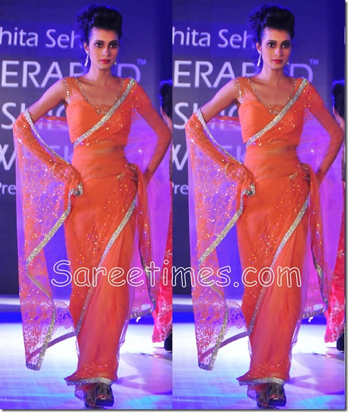 Orange_Embroiery_Saree