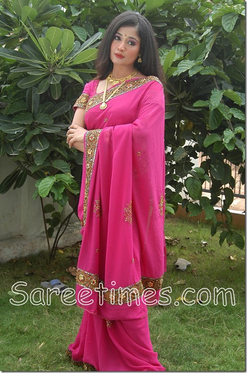 Kiran_Rathod_Pink_Saree