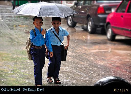 Off to School - No Rainy Day! © RajivKumar