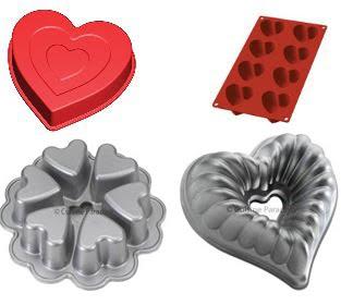 moldes en forma de corazon para cocinar tartas o pasteles en san valentin
