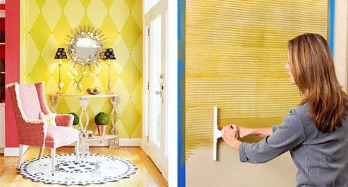 idea para decorar una pared con pintura