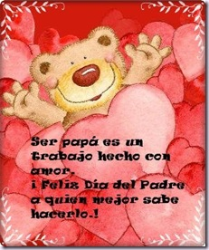 tarjeta dia del padre - oso 1