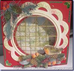 carte 3D fenêtre Noël