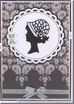 Carte noir & blanc Dame