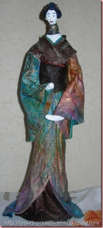 Geisha en powertex