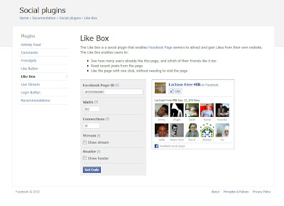Without the header or stream, the Like Box is just a box showing your fans, a link to your Facebook Page and a Like button.
