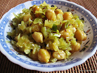 Band Gobi Chole or Cabbage Channa Sabji or Palya/Poriyal