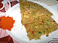 Green Peas Potato Paratha/Parota or Aloo Mutter Paratha