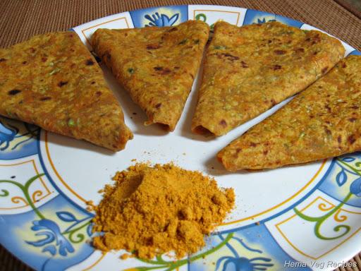Vegetable Paratha/Parota