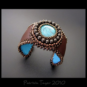 Brown and Turquoise Cuff 02 copy