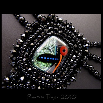 Fly me to the moon - ooak necklace 03 copy