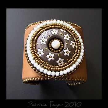 Sugar and Spice - Brown Leather Cuff 01 copy