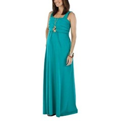 Nursing maxi dress Teal