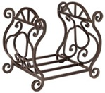 Twister Basket Bronze Wrought Iron