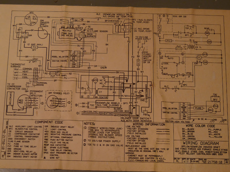 ruud furnace wiring diagram 80