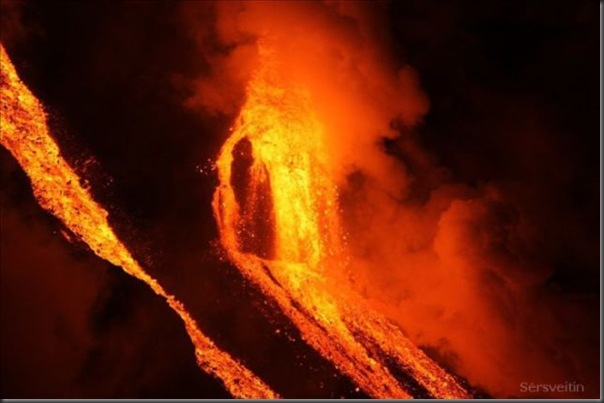 Uma erupção do vulcão islandês (23)