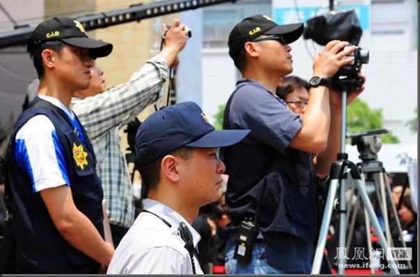 funeral de chefe de máfia de Taiwan (7)