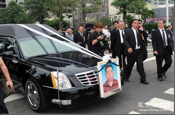 funeral de chefe de máfia de Taiwan (10)
